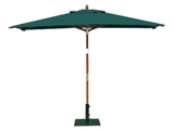 Rectangular 3.0m x 2.0m Garden Table Parasols Green
