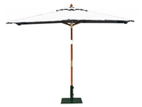 Rectangular 3.0m x 2.0m Garden Table Parasols Natural