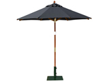 Round 2.0m Garden Table Parasols Black