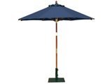 Round 2.0m Garden Table Parasols Blue