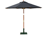 Round 2.5m Garden Table Parasols Black