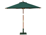 Round 2.5m Garden Table Parasols Green