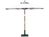 Round 2.5m Garden Table Parasols Natural