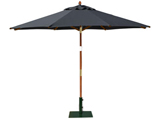 Round 3.0m Garden Table Parasols Black