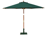 Round 3.0m Garden Table Parasols Green