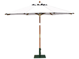 Round 3.0m Garden Table Parasols Natural