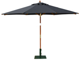 Round 3.5m Garden Table Parasols Black