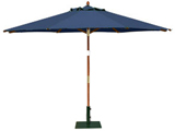 Round 3.5m Garden Table Parasols Blue