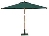 Round 3.5m Garden Table Parasols Green