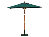 Square 2.0m Garden Table Parasols Green