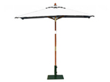 Square 2.0m Garden Table Parasols Natural