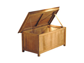 Large Teak Storage Box
