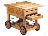 Classic Teak Drinks Trolley