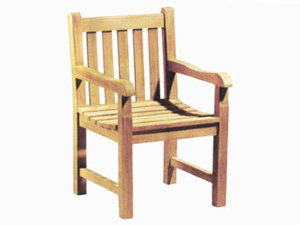Windsor Teak Garden Armchairs