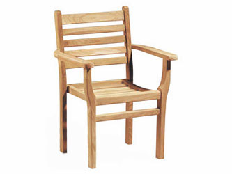 Yale Teak Garden Stacking Armchairs