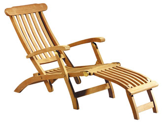 Steamer Chair Teak Garden Sun Loungers