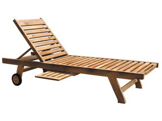 Sun Teak Fixed Leg Garden Loungers