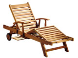 Sun Teak Armed Luxury Garden Loungers