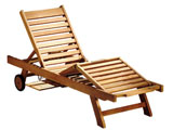 Sun Teak Luxury Garden Loungers