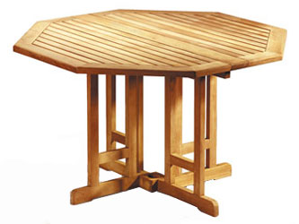 Berrington Teak 1.2m Octagonal Gateleg Folding Garden Tables