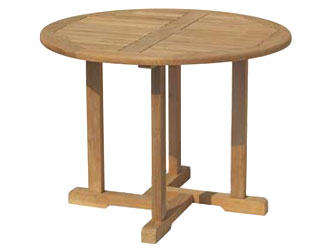 Canfield Teak 1.0m Round Garden Tables