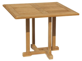Canfield Teak 1.0m Square Garden Tables