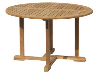Canfield Teak 1.3m Round Garden Tables