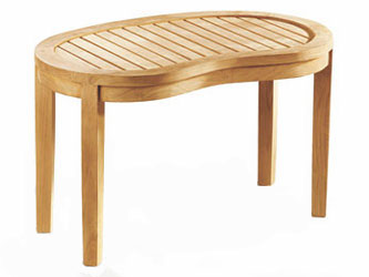 Contemporary Teak 1.1m Garden Coffee Tables