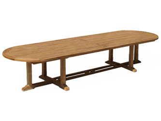 Hilgrove Teak 4.0m Oval Garden Tables