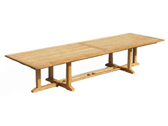 Hilgrove Teak 4.0m Rectangular Garden Tables