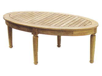 Oval Teak 1.2m Garden Coffee Tables