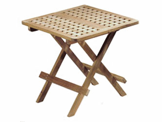 Picnic Teak 0.5m Square Folding Garden Tables