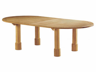 Titan Teak 2.6m Oval Garden Tables