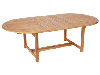 Atlantic Westminster Teak Garden Double Extension Tables