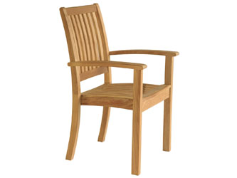 Sussex Westminster Teak Garden Stacking Chairs