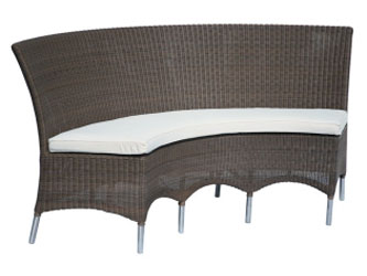 Valencia Westminster Woven Garden Curved Benches Sand