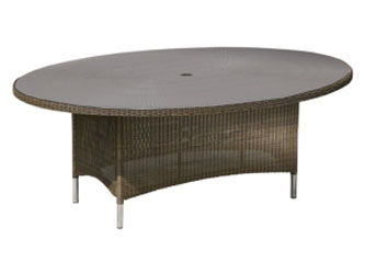 Valencia Westminster Woven Garden Oval Tables Sand