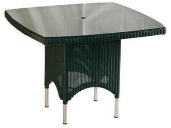 Valencia Westminster Woven Garden Square Tables Ebony