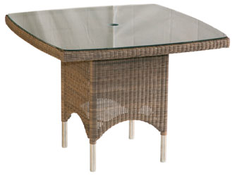 Valencia Westminster Woven Garden Square Tables Sand