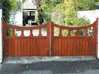 Mells Iroko Hardwood Entrance Gates