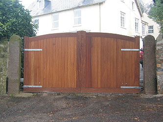 Stafford Iroko Hardwood Entrance Gates