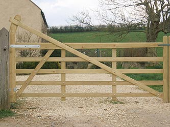 Estate Iroko Hardwood Farm & Field Gates