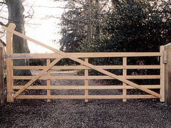 Yoeman Iroko Hardwood Farm & Field Gates