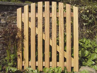 Curved Wicket Hardwood Front Garden Gates
