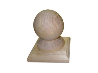 Natural Treated Gate Post Ball Finials