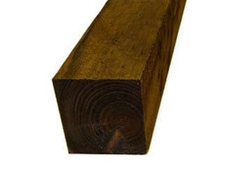 Brown Treated Timber 7in x 7in Gate Posts