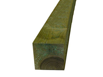 Natural Treated Timber 5in x 5in Gate Posts