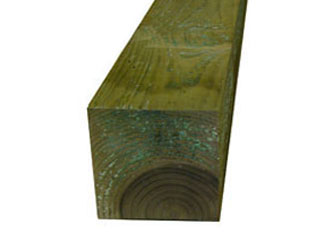 Natural Treated Timber 7in x 7in Gate Posts