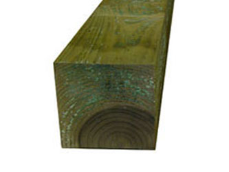 Natural Treated Timber 8in x 8in Gate Posts
