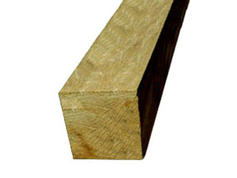 Oak Hardwood Timber 6in x 6in Gate Posts